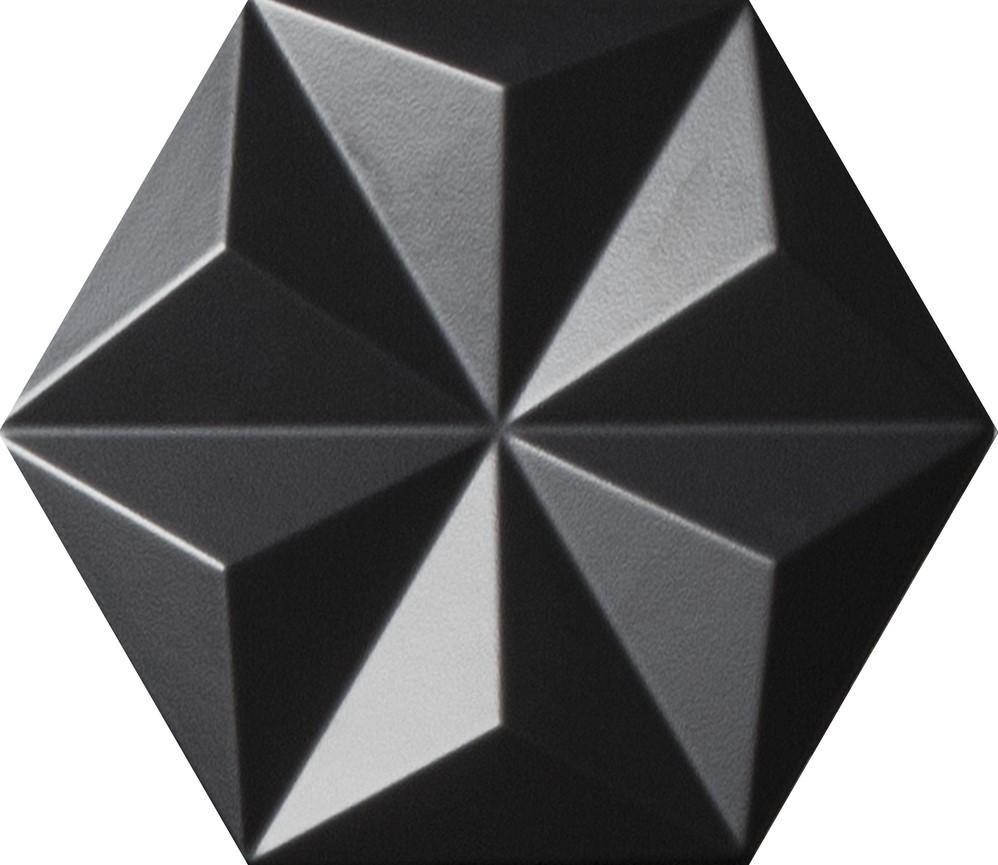Quintessenza Origami reliëf zwart
